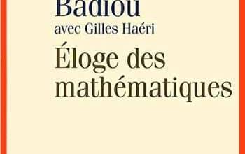 Photo de Alain Badiou et Gilles Haeri – Éloge des mathématiques