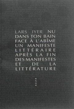 Lars Iyer - Nu dans ton bain face à l'abîme